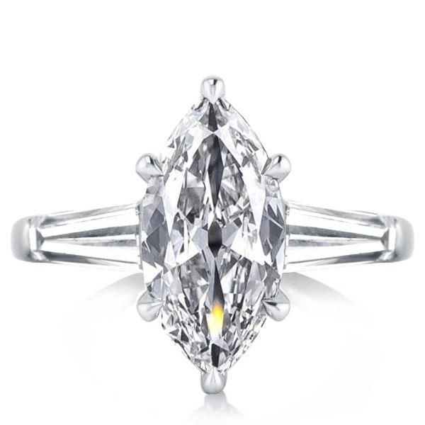 Three Stone Marquise Engagement Ring
