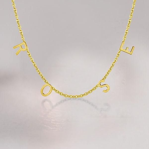 14k Gold Plated Multiple Letters Initial Necklace