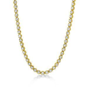 Round Tennis Necklace