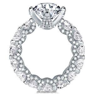 Eternity Round Engagement Ring