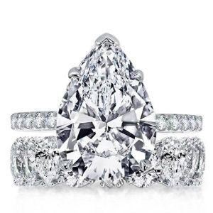 Pear Shaped Bridal Set