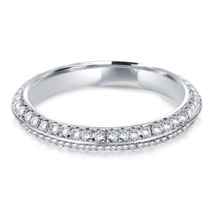 Double Row Eternity Wedding Band