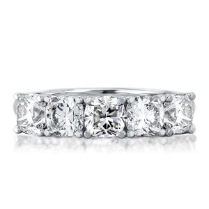 Half Eternity Cushion Cut Wedding Band