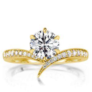 18k gold engagement ring
