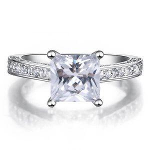 Classic Princess Cut Engagement Ring