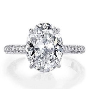 Oval Created Engagement Ring