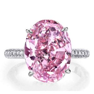 Oval Pink Sapphire Engagement Rings