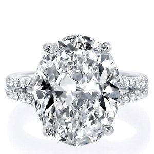 Oval Split Shank Engagement Ring
