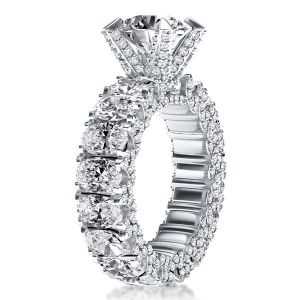 Eternity Oval Shank Engagement Ring