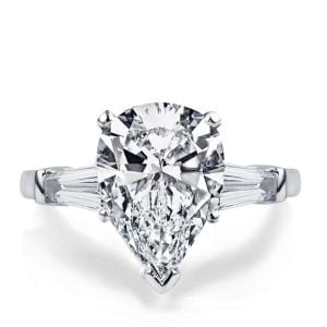 Pear Three Stone Engagement Ring