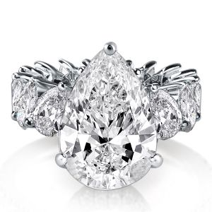Classic Eternity Peg Head Pear & Heart Cut Engagement Ring
