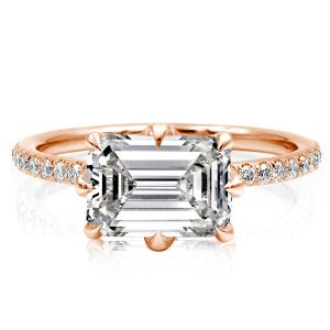 Rose Golden Emerald Cut Engagement Ring