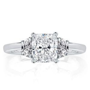 Three Stone Cushion Engagement Ring