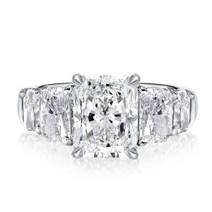Five Stone Radiant Engagement Ring