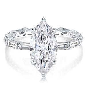 Unique Marquise Cut Engagement Ring