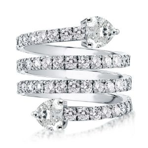 Multi Row Spiral Engagement Ring