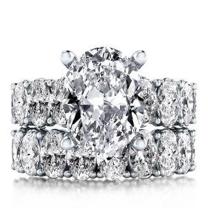 Oval Bridal Set Rings