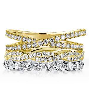 Eternity Wedding Ring Band Sets