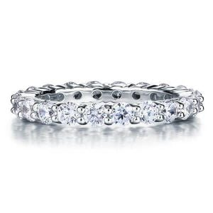 Eternity Round Cut Wedding Band