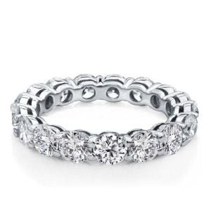Italo Eternity Round Created White Sapphire Wedding Band
