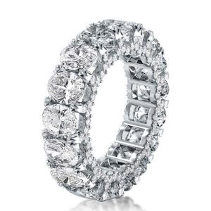 Eternity Double Prong Oval Wedding Band