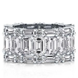 Lab Created White Sapphire Eternity Band