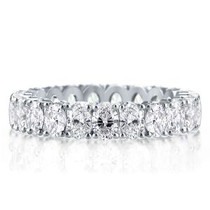 Eternity Oval Created White Sapphire Wedding Band