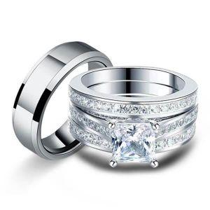Cheap Engagement Wedding Ring Sets