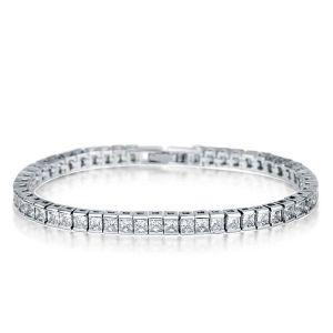 White Sapphire Tennis Bracelet