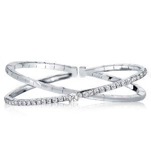 Crossover Round Cut Bangle Bracelet