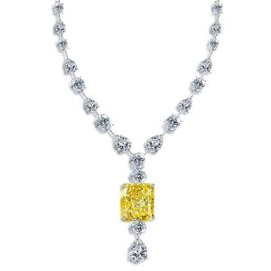 Radiant Cut Created Topaz Pendant Necklace