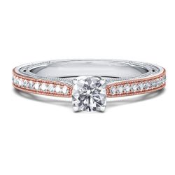Two Tone Classic Engagement Ring