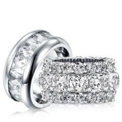 Round Cut Couple Rings