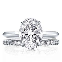 Oval Cut Bridal Set