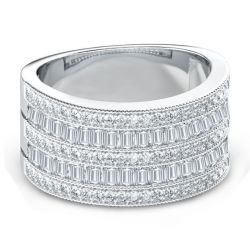 Art Deco Wedding Band (4.22 CT. TW.)