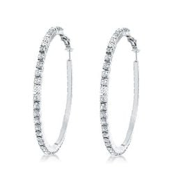 Round Cut Hoop Earrings