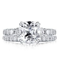Cushion Cut Bridal Set