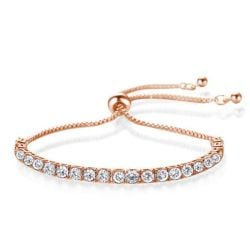 Fashion Round Cut Rose Gold Bracelet