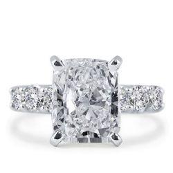 Italo Eternity Created White Sapphire Engagement Ring