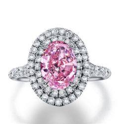 Pink Halo Engagement Ring