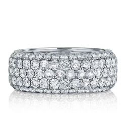 Italo Five Row Eternity Created White Sapphire Wedding Band
