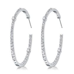 Round Cut Big Womens Hoop Earrings