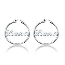 Hoop Earrings With Name