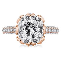 Rose Gold Milgrain Engagement Ring