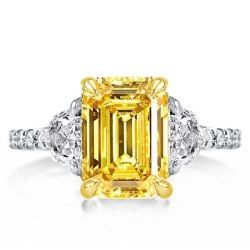 Yellow Emerald Engagement Rings