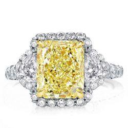 Halo Radiant Engagement Ring
