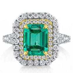 Emerald Green Engagement Rings