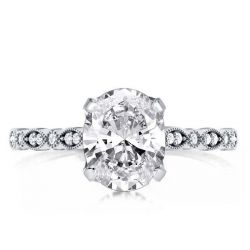 Oval Cut Vintage Milgrain Engagement Ring