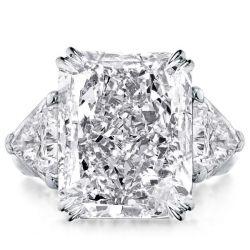 Radiant Three Stone Engagement Ring