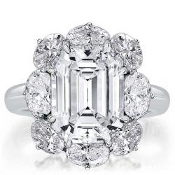 Flower Design Engagement Rings
